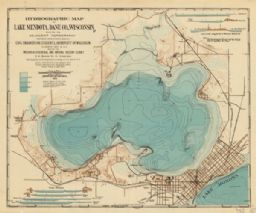 Hydrographic Map of Lake Mendota, Dane County, Wisconsin