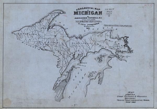 Geological Map of Michigans Upper Peninsula  Map or Atlas
