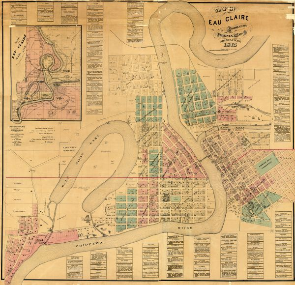 Map of Eau Claire Map or Atlas Wisconsin Historical Society