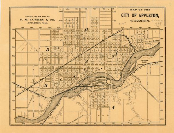 Map of the City of Appleton Wisconsin Map or Atlas Wisconsin