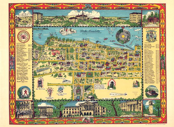 Map Of University Of Wisconsin Madison Campus Map Or Atlas