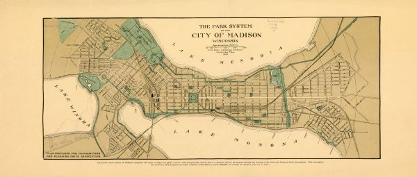 Park System of the City of Madison, Wisconsin | Map or Atlas ...