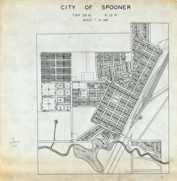 City Of Spooner Wisconsin Township 39 N R 12 W Map Or Atlas
