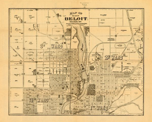 Map Of The City Of Beloit Wisconsin Map Or Atlas Wisconsin - City map of wisconsin