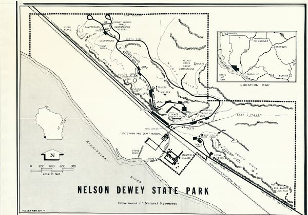 Nelson Dewey State Park | Map or Atlas | Wisconsin Historical Society