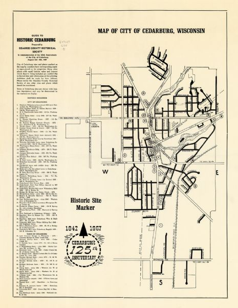 Cedarburg Wisconsin Map.Map Of City Of Cedarburg Wisconsin Map Or Atlas Wisconsin