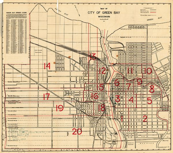 Map of City of Green Bay, Wisconsin | Map or Atlas | Wisconsin ... Green Bay City Map on