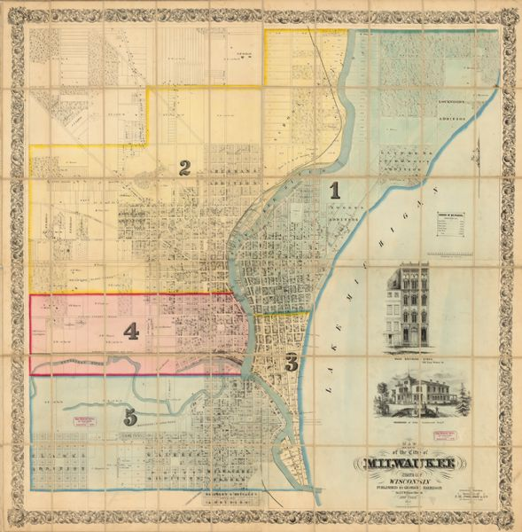 Milwaukee State Map.Map Of The City Of Milwaukee State Of Wisconsin Map Or Atlas