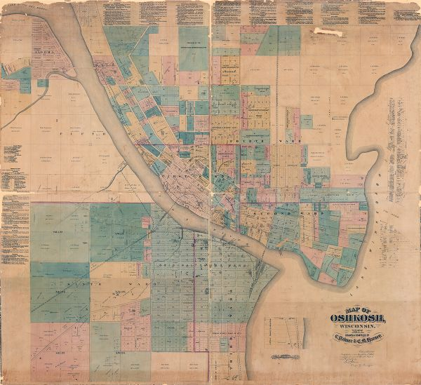 Map of Oshkosh Wisconsin Map or Atlas Wisconsin Historical Society