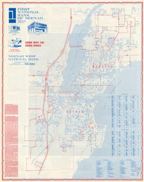 Map Of Menasha Wisconsin Map Of Neenah Wisconsin Map Or Atlas