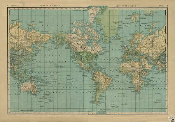 Rand McNally  Cos New 14 x 21 Map of the World