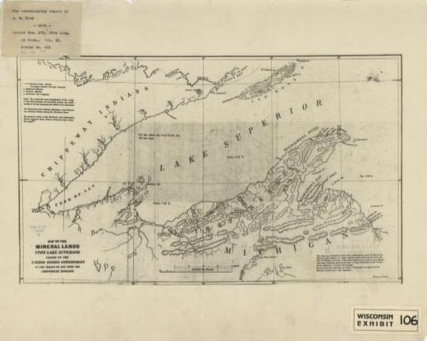 Map of the Mineral Lands Upon Lake Superior Ceded to the United ...