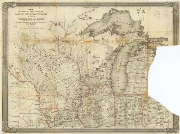 Michigan And Ohio Map.Map Of Michigan Ohio Indiana Illinois Missouri Wisconsin Iowa