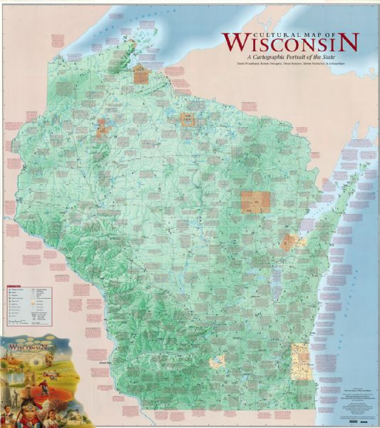 Cultural Map Of Wisconsin Map A Cartographic Portrait Of The - Map of wisconsin