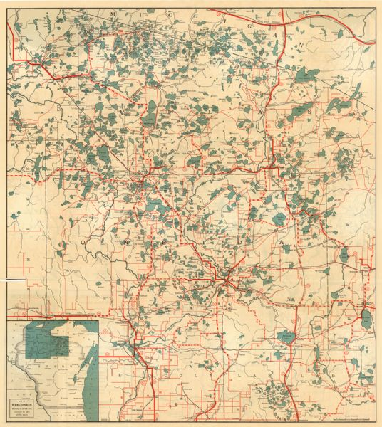 Northern Wisconsin Lakes | Map or Atlas | Wisconsin Historical Society