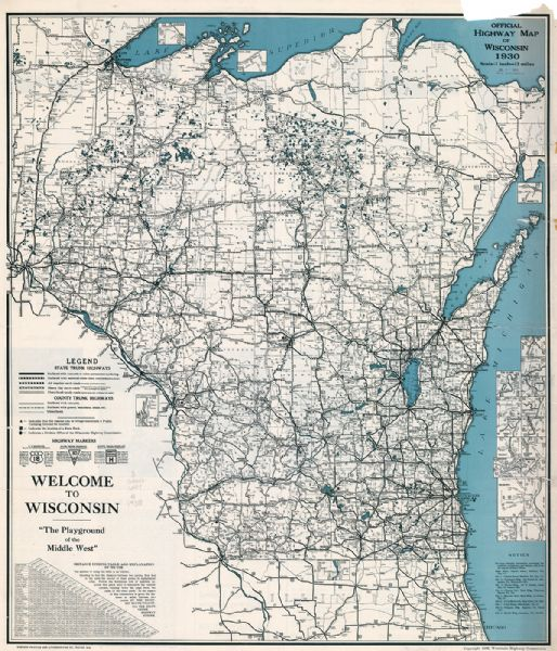 Official Highway Map Of Wisconsin Map Or Atlas Wisconsin - Map of wisconsin