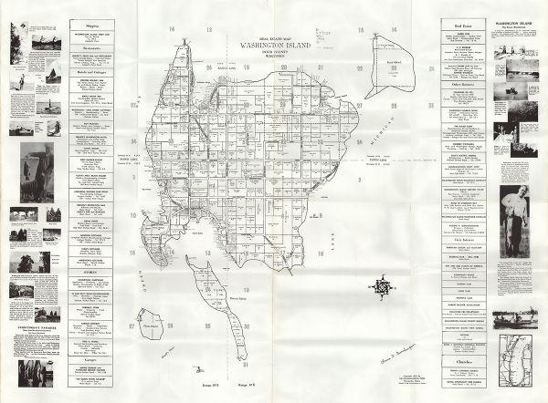 Washington Map Society.Real Estate Map Washington Island Door County Wisconsin Map Or