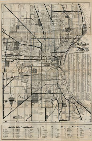 Milwaukee Map Folder   Map or Atlas   Wisconsin Historical Society