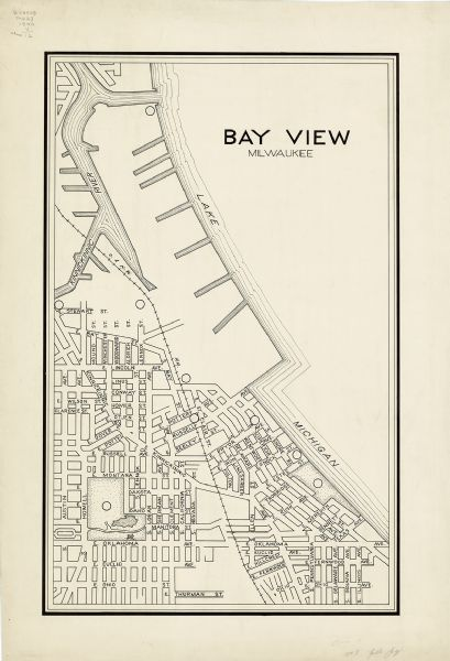Maps of Milwaukee: Bay View Milwaukee | Map or Atlas | Wisconsin ...
