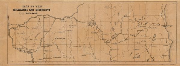Map of the Milwaukee and Mississippi RailRoad Map or Atlas