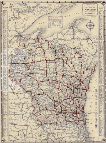 Rand McNally Senior Auto Road Map of Wisconsin | Map or Atlas ... on