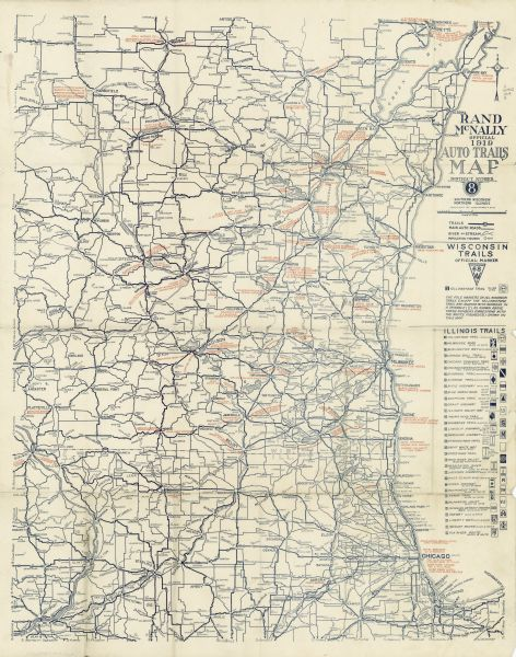 Rand mcnally official 1919 auto trails map district number 8 rand mcnally official 1919 auto trails map district number 8 southern wisconsin northern illinois publicscrutiny Image collections