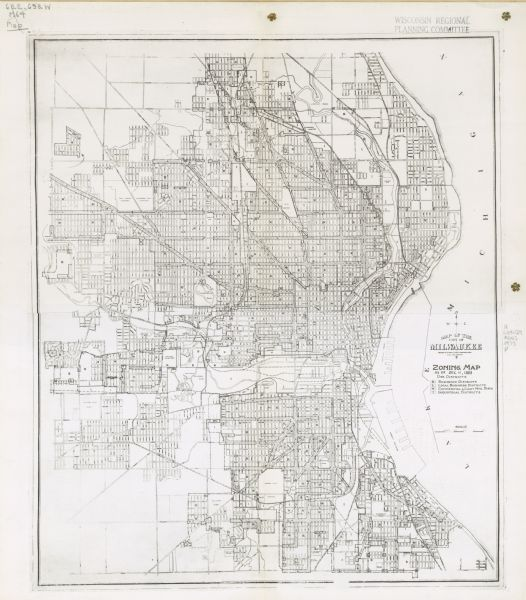Map of the City of Milwaukee, Zoning Map | Map or Atlas | Wisconsin City Of Milwaukee Map on