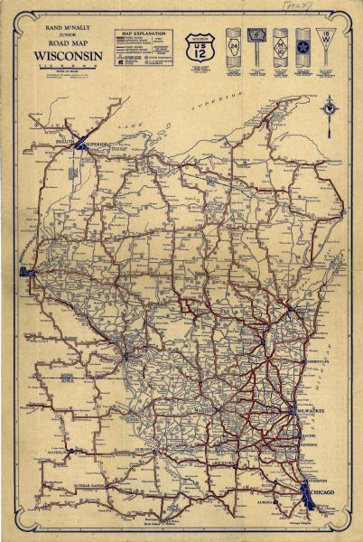 Rand McNally Junior Road Map of Wisconsin | Map or Atlas ... on illinois county map, illinois dot construction map, illinois interstate highway map, illinois airports map, illinois tollway map 294, illinois tolls rates map, illinois road atlas, illinois us 66 maps,