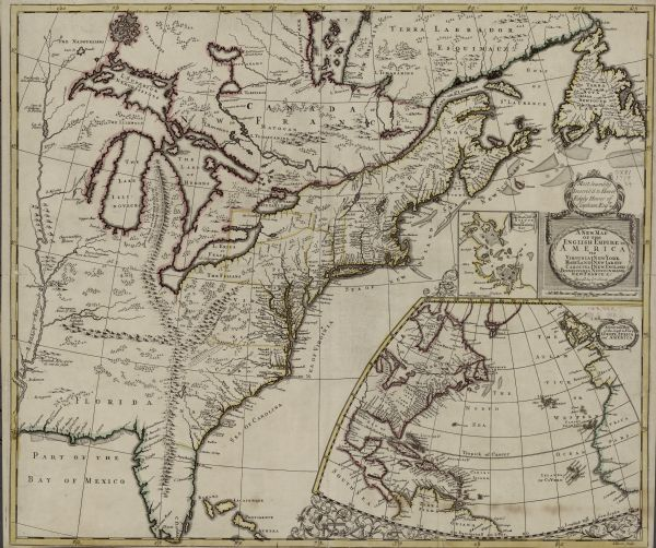 A New Map of the English Empire in America viz Virginia New York