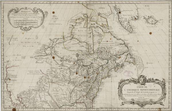 Carte Amerique Wisconsin.Carte De L Amerique Septentrionale Depuis Le 28 Degre De