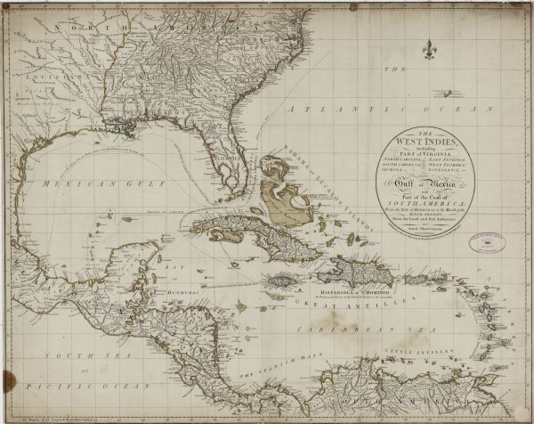 The West Indies Including Part Of Virginia North Carolina East