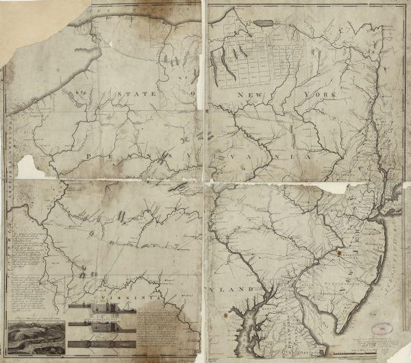 Pennsylvania Map Rivers