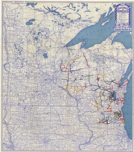 Iowa Map With Highways.Wisconsin Minnesota Map Or Atlas Wisconsin Historical Society