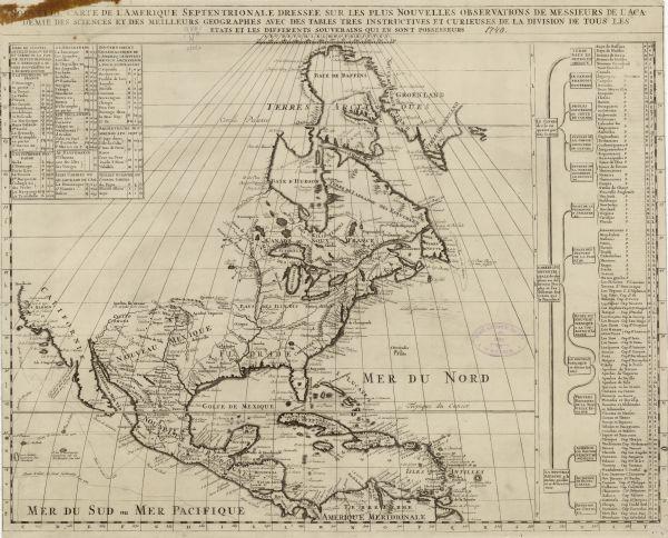 Carte Amerique Wisconsin.Nouvelle Carte De L Amerique Septentrionale Dressee Sur Les