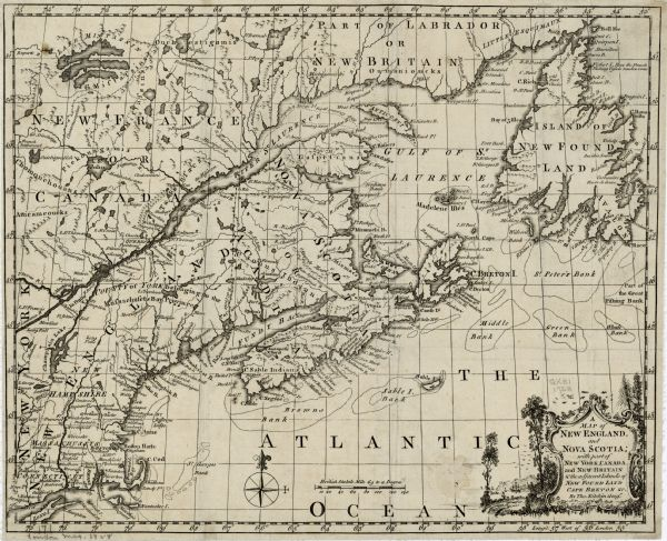 A Map of New England, and Nova Scotia: With Part of New York, Canada ...