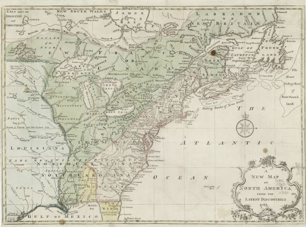New Map Of America.A New Map Of North America From The Latest Discoveries Map Or