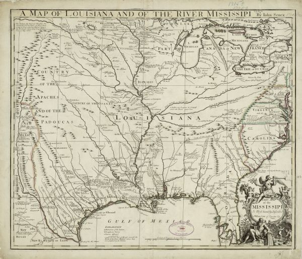 A Map Of Louisiana And Of The River Mississipi Map Or Atlas - World map rio grande river