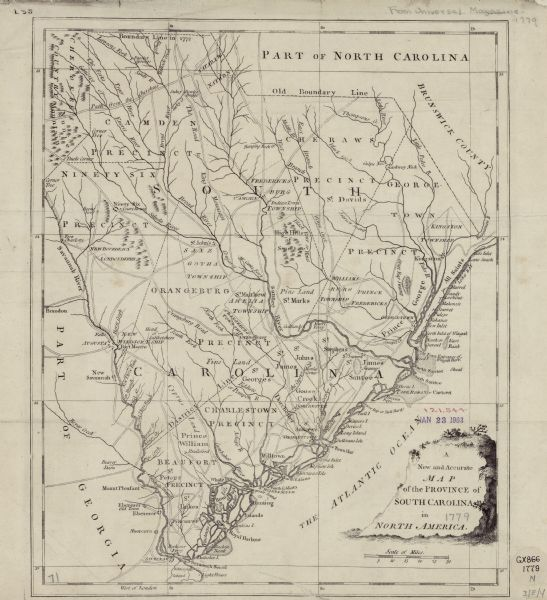 A New and Accurate Map of the Province of South Carolina in North ...
