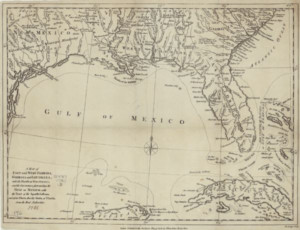 A Map of East and West Florida, Georgia, and Louisiana: With the ...