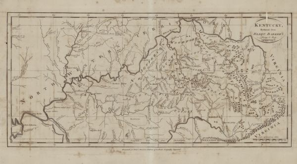 Kentucky, Reduced from Elihu Barker\'s Large Map | Map or Atlas ...