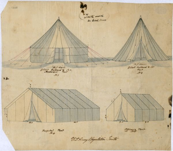 United States Army Regulation Tents | Drawing | Wisconsin