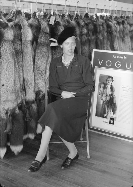 Woman Posing With Furs