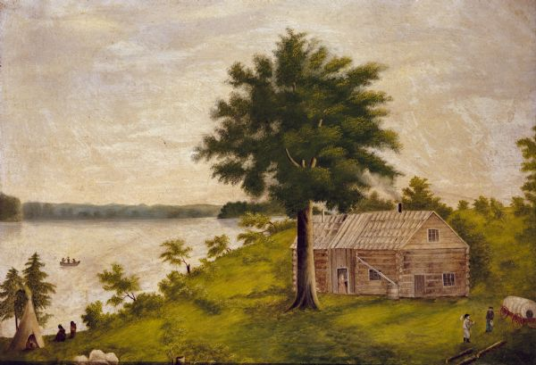 The Eben Peck cabin was the first house built in Madison.