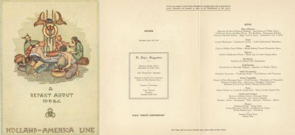 Rms inieuw amsterdami dinner menu print wisconsin rms nieuw amsterdam dinner menu publicscrutiny Image collections