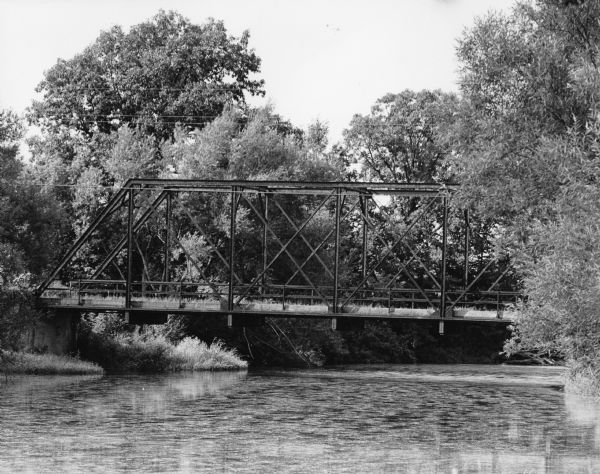 This bridge, over the Rock River was later replaced.