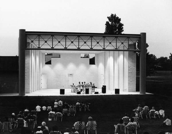 The summer performance stage at Buttermilk Creek Park.