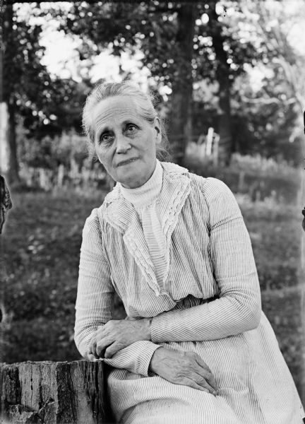 Outdoor portrait of Mary Turvill McConnell.