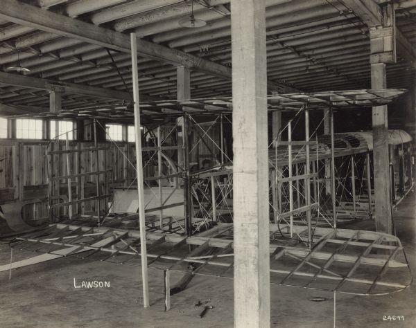 Lawson Air Liner Structure | Photograph | Wisconsin Historical Society
