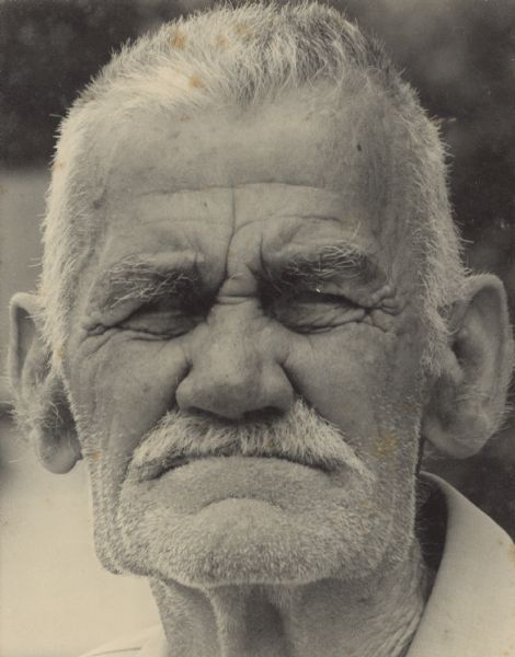 Head and shoulders portrait of Walter Jock, a local resident of Williamson Street.