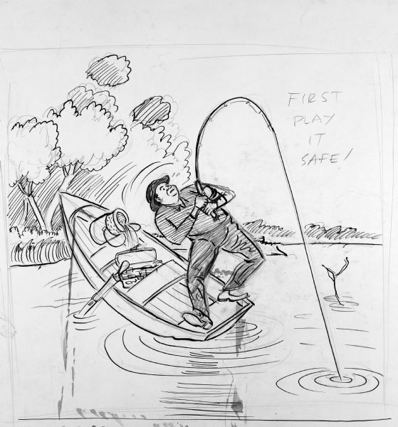 First Play It Safe Drawing Wisconsin Historical Society